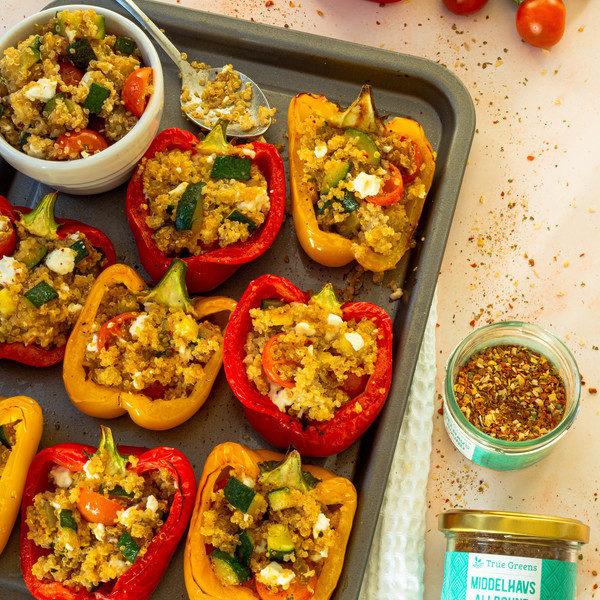 Veganske fyldte peberfrugter
