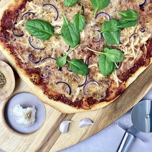 Lynhurtig vegansk pizza med Italian Spice