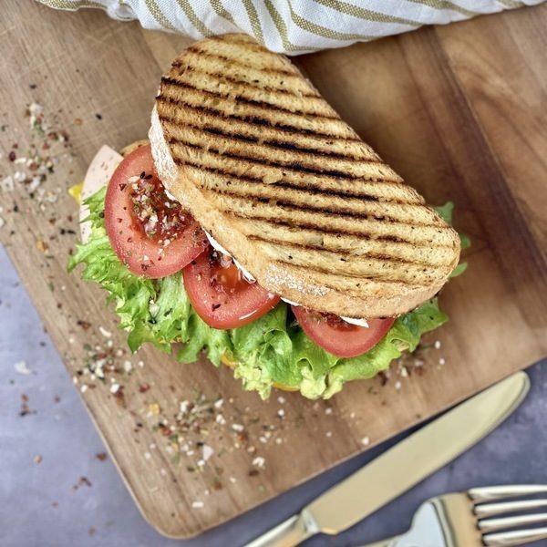 Skøn vegansk panini med ekstra flavour
