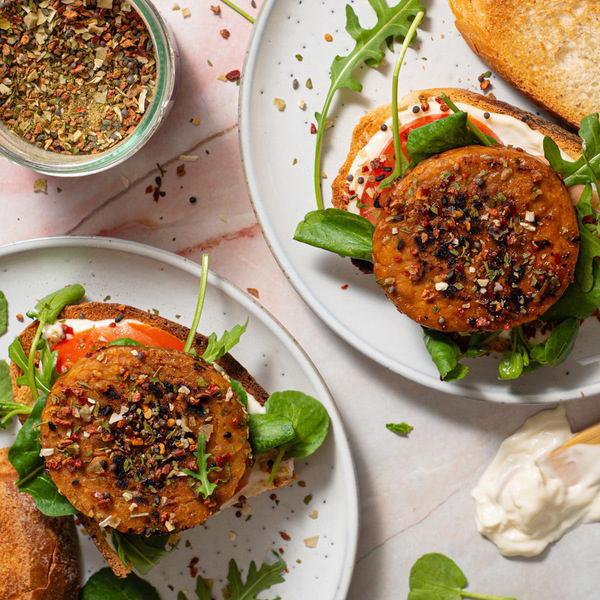 Tasty vegansk BLT sandwich