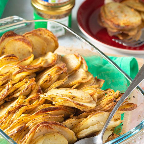 Sprøde, cremede og velsmagende galette kartofler