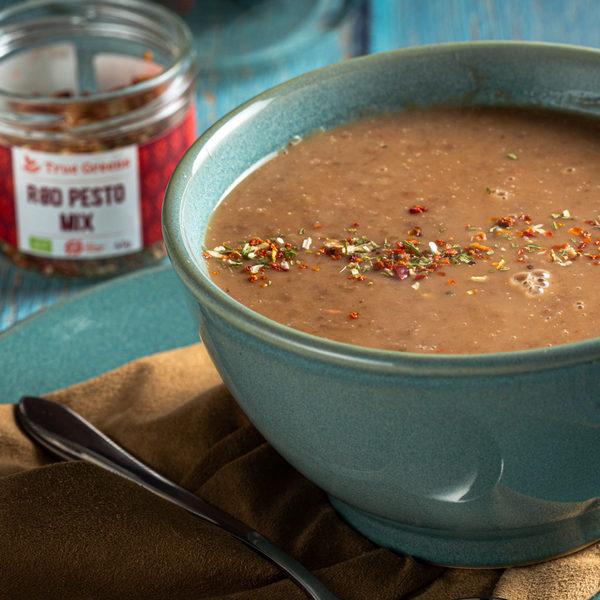 Delikat og cremet pintobønne-suppe
